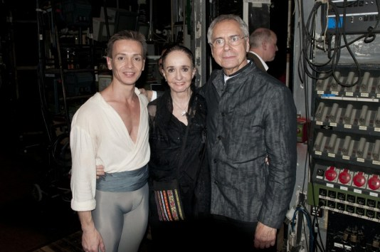 Luis Ortigoza, Marcia Haydée and John Neumeier