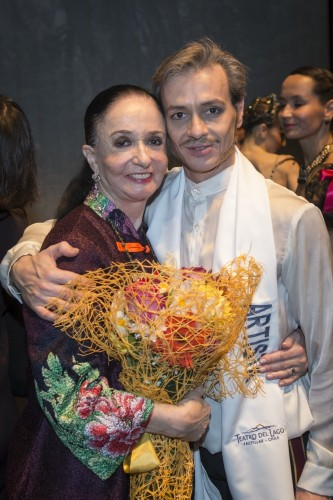 Marcia Haydée with her Assistant Director and Principal Dancer, Luis Ortigoza