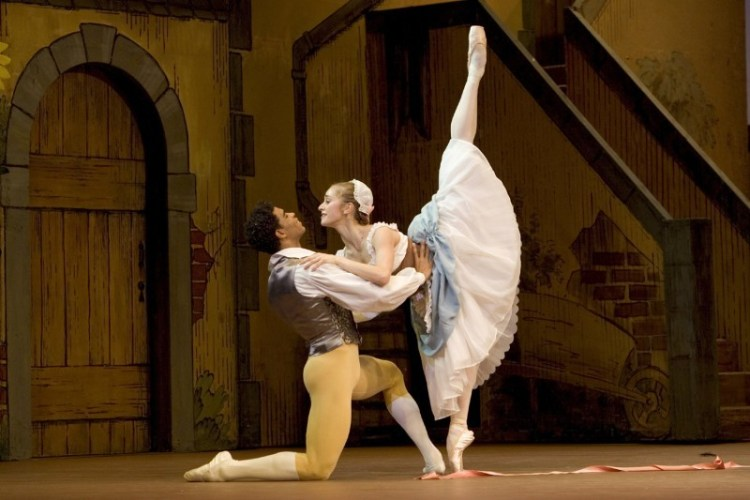 Carlos Acosta as Colas and Marianela Nuñez as Lise in The Royal Ballet's La Fille Mal Gardée - photo by Bill Cooper / ROH