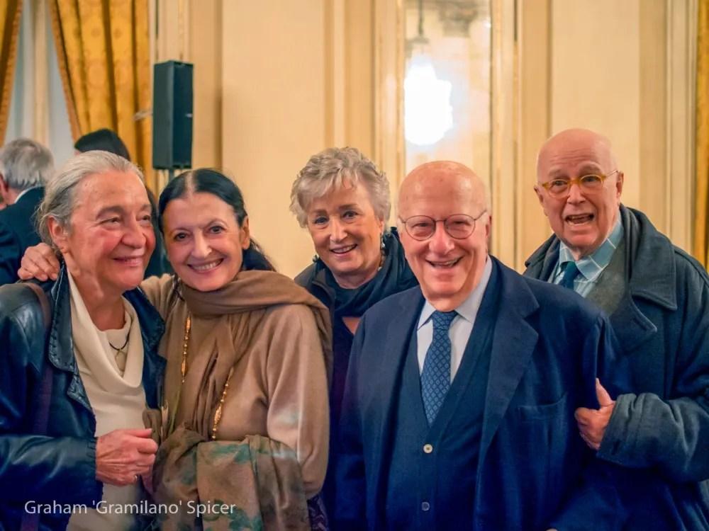 from left: Luisa Spinatelli, Carla Fracci, Giovanna Lomazzi, Filippo Crivelli and Beppe Menegatti