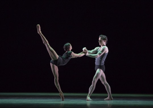 Francesca Hayward and Tristan Dyer in Infra, The Royal Ballet © ROH-Andrej Uspenski, 2012