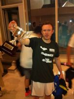 Daniel Harding holding the Giuseppe Verdi Cup - Rigoletto vs Falstaff - Japan 2013