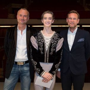 Julian Mackay with Patrick Lesage from Harlequin Europe and Dirk Ruter from Harlequin Germany