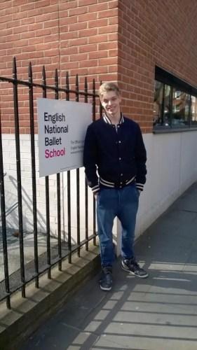 James Hobley at the English National Ballet School