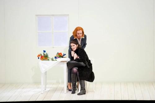 Jennifer Larmore in Jenufa with Hannah Shwartz, Deutsche Oper, Berlin, 2012 - photo by Monika Rittershaus