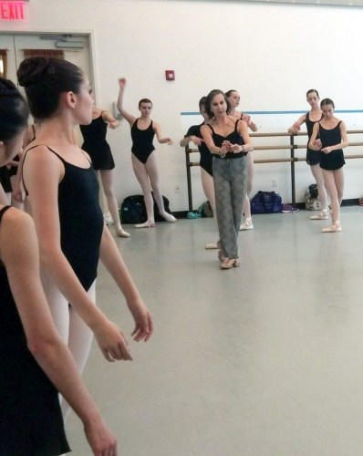 A mime class in New York for  Ellison Ballet 2014