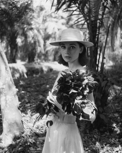 Audrey Hepburn on location in Africa for The Nuns Story by Leo Fuchs, 1958
