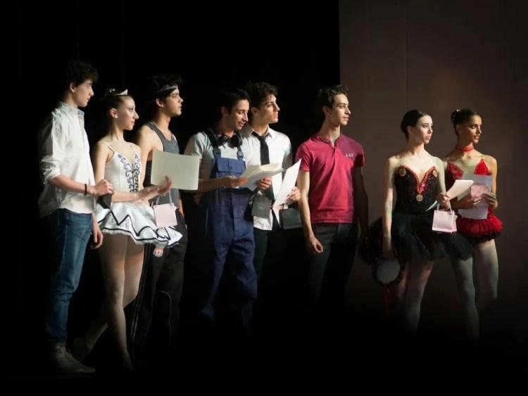 Some of the prize winners, from left, Ludovica Garibaldi, Alex Kaden, Alessio di Stefano, Francesco Costa, Cristiano Zaccaria, Linda Giubelli and Chiara Tartaglia