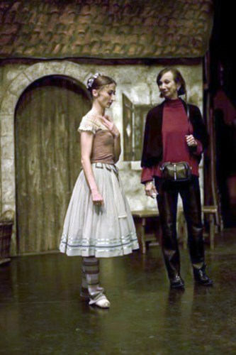 With Daria Klimentova before a performance of Giselle ENB 2010