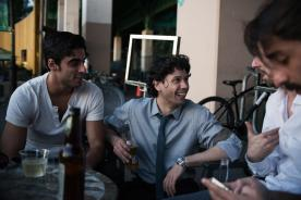 With friends in New York - from left, Luis Ribagorda, Herman Cornejo, Alejandro Piris-Niño, Julio Bragado - by Lucas Chilczuk