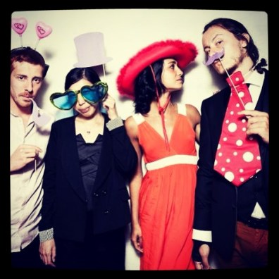 Mathilde with friends at a wedding in August 2012