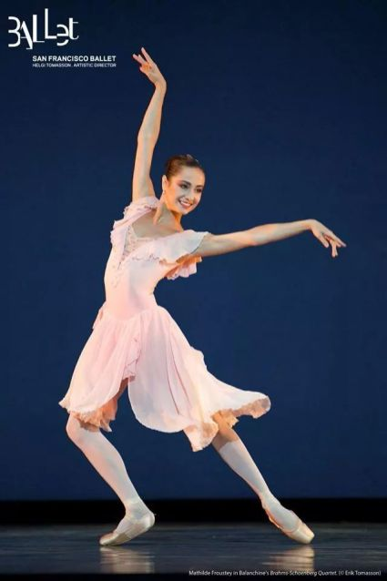 San Francisco Ballet photograph of Mathilde Froustey in Balanchine's Brahms–Schoenberg Quartet - photo by Erik Tomasson
