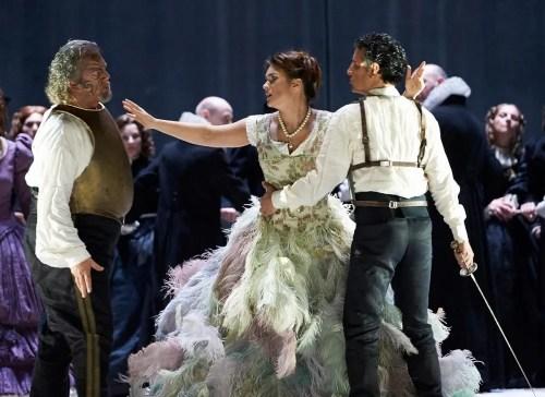 Annalisa Stroppa (Emilia), Gregory Kunde (Otello), Olga Peretyatko (Desdemona), Juan Diego Flórez (Rodrigo), Edgardo Rocha (Jago) - La Scala, photo by Matthias Baus