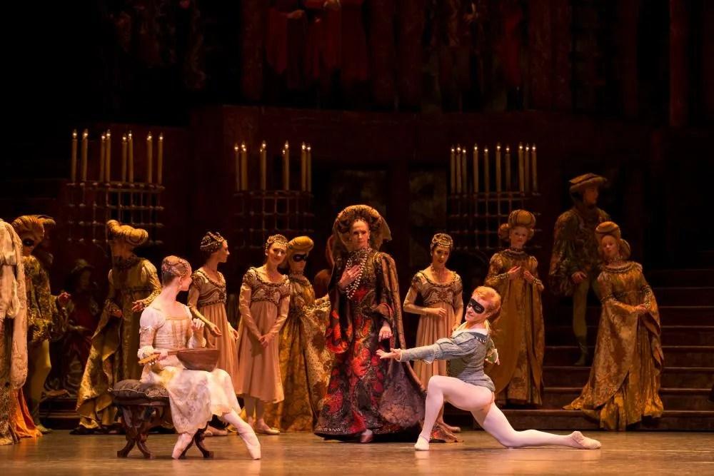 Evgenia Obraztsova, Genesia Rosato, Steven McRae in Romeo and Juliet, The Royal Ballet © ROH-Johan Persson, 2013