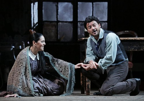 Maria Agresta with Vittorio Grigola in La bohème at Teatro alla Scala - photo Brescia-Armisano 2015