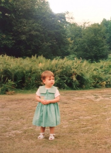 'Little did I know...', 2 year old Yasmine walking in Richmond Park, just behind White Lodge