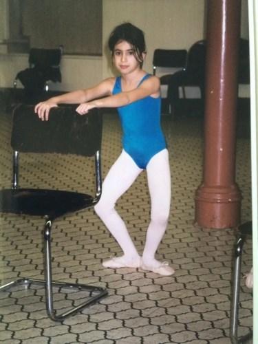 Yasmine's first ballet class, aged 7