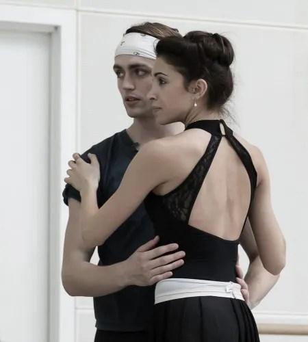 Yasmine Naghdi and Matthew Ball rehearsing Romeo and Juliet, Rehearsal photography by Andrej Uspenski ©ROH, 2015-04