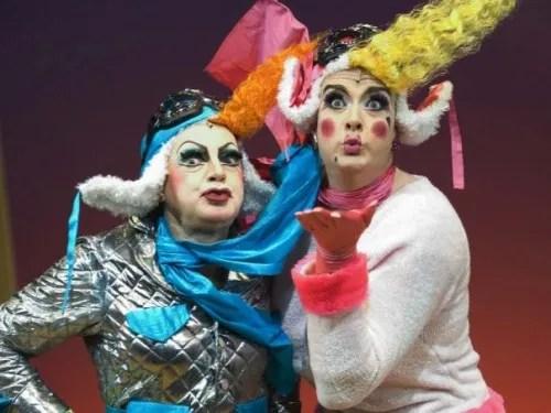 David Ashley and Michael Kirk in Cinderella, Hackney Empire 2006