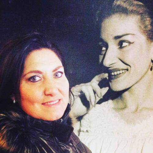 Anna Pirozzi with her 'most admired' singer, Maria Callas