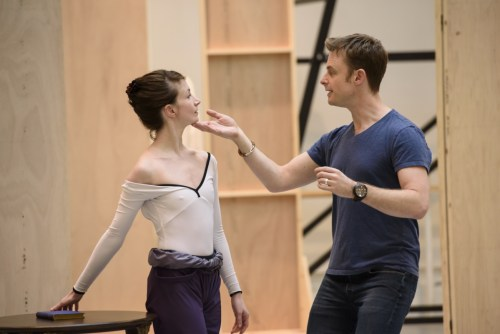 Lauren Cuthbertson with Christopher Wheeldon – photo by Bill Cooper, ROH