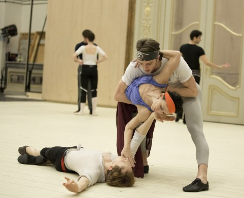 Natalia Osipova, Matthew Ball and Edward Watson – photo by Andrej Uspenski , ROH