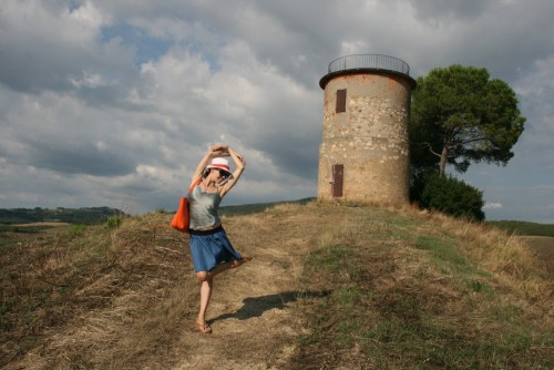 Vika on Holiday in Tuscany