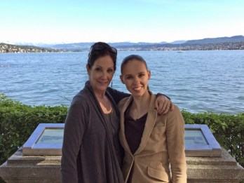 Vika with Cynthia Harvey in Zurich