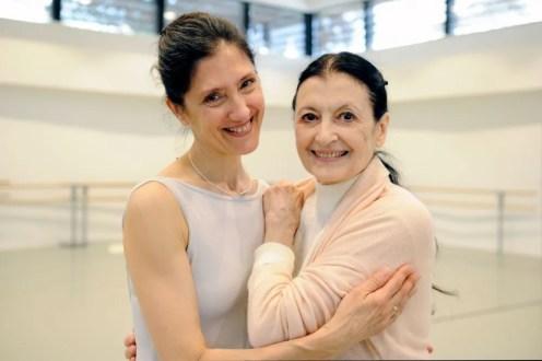 Carla Fracci with Paola Cantalupo