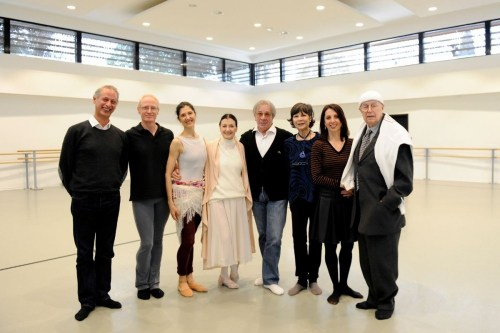Carla Fracci with (from left) OmarTaiebi, Peter Lewton-Brain, Paola Cantalupo, James Urbain, Anna Maria Prina, Patrizia Canini and Beppe Menegatti