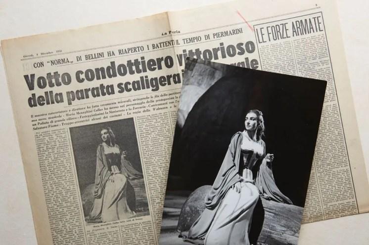 Maria Callas's triumph in Norma at La Scala, 7 December 1955 (Collection Ilario Tamassia)