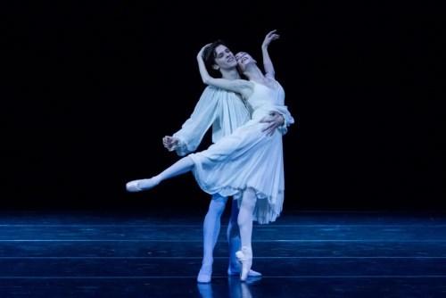 Rebecca Bianchi in the Romeo and Juliet balcony pas de deux with Claudio Coviello