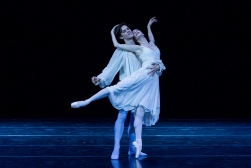 Rebecca Bianchi in the Romeo and Juliet balcony pas de deux with Claudio Coviello
