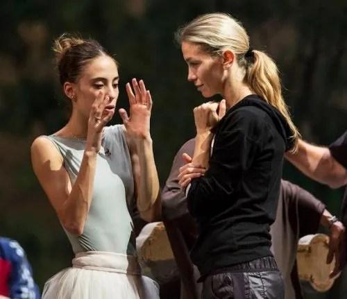 Rebecca Bianchi with Eleonora Abbagnato - photo Teatro dell'Opera di Roma