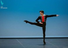 Vincenzo di Primo dancing his Basilio variation during the final of the Prix de Lausanne 2016