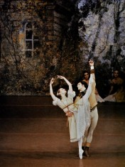 Paul Chalmer as as Lensky with Marion Jager as Olga in Onegin – Stuttgart Ballet