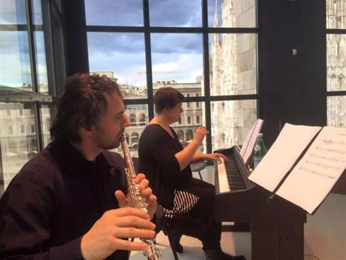 Love Hurts rehearsals overlooking Milan's Duoma