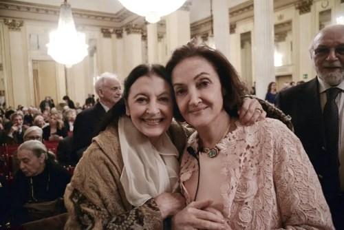 Carla Fracci and Anna Crespi Morbio - photo by Gerardo Pizzocari