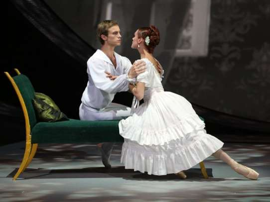 Ulyana Lopatkina and Andrey Ermakov in Marguerite and Armand – photo by V. Shultz, The Big Ballet Show on television, 2012