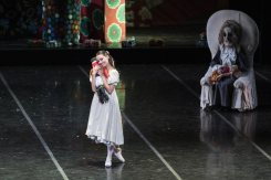 Susanna Salvi as the young Clara in The Nutcracker photo by Yasuko Kageyama, Opera di Roma 2014