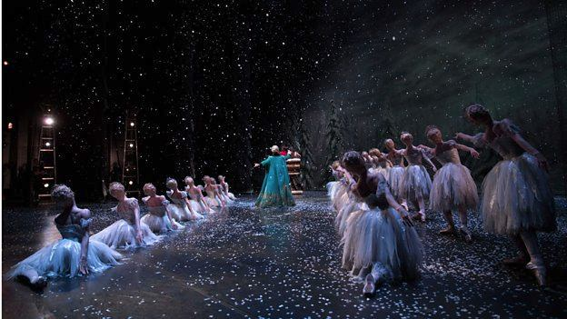 The BBC backstage at the Nutcracker with The Royal Ballet