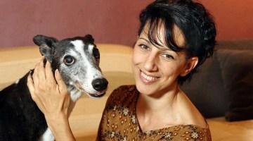 Monica Vaglietti, the ballet dancer with thirteen Greyhounds