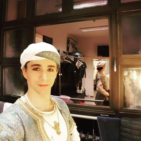La Bayadére selfie in István's Semperoper dressing room