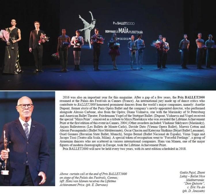 Ballet2000, Prix