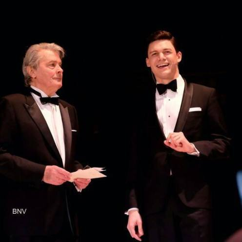 David Aladashvili hosting a show with Alain Delon