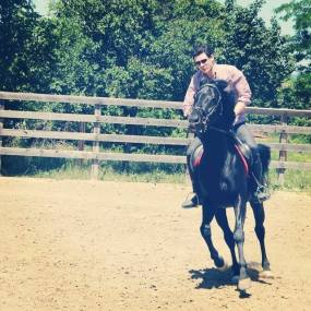 David on horseback, photo by Elisabed Lordtkipanidze