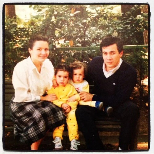 'Mom, my sister. me and Dad, 1990'