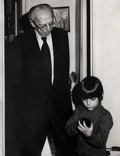 Aaron Copland and Benjamin Spierman in 1975