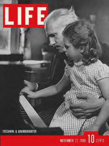 Arturo Toscanini on the cover of Life
