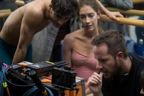 Davide Dato, Clara Alonso and Eitan Pitigliani on the set of Insane Love